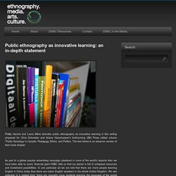 Public ethnography as innovative learning: an in-depth statement