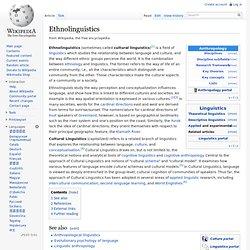 Ethnolinguistics