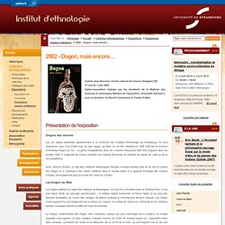 Département d'ethnologie:2002 - Dogon, mais encore…-Université de Strasbourg