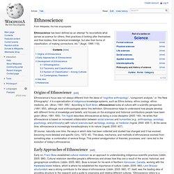 Ethnoscience