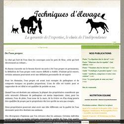 ethologie - Techniques d'élevage