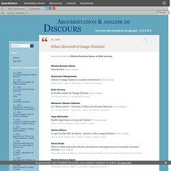 2009 Ethos discursif et image d'auteur