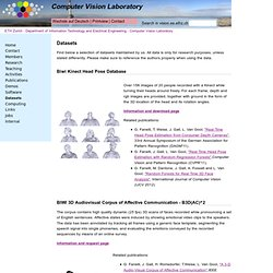 ETHZ - Computer Vision Lab: Datasets