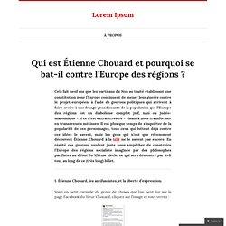 Qui est Étienne Chouard et pourquoi se bat-il contre l'Europe des régions ?