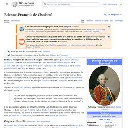 Étienne-François de Choiseul