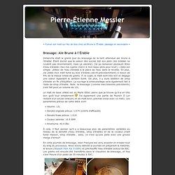 Pierre-Étienne Messier » Archive du blog » Brassage: Ale Brune à l'Érable