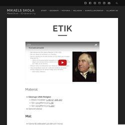 Etik – Mikaels Skola