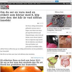 Om du ser en vara med en etikett som börjar med 8, köp inte den: det här är vad siffran innebär - TittaPaVideon.se