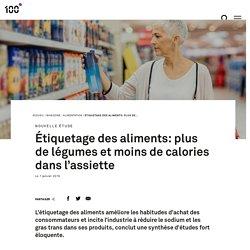 Étiquetage des aliments: plus de légumes et moins de calories dans l'assiette