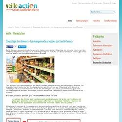 Étiquetage des aliments : les changements proposés par Santé Canada