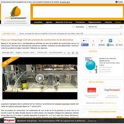Focus sur l'étiquetage COV des produits de construction et de décoration