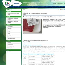 Etiquetage de l'origine des viandes : le règlement publié