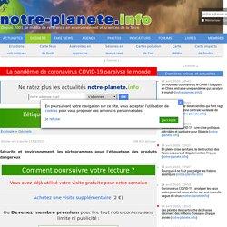 L'étiquetage des produits dangereux : les pictogrammes - notre-planete.info