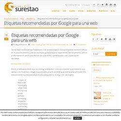 Etiquetas recomendadas por Google para una web - Estudio Surestao