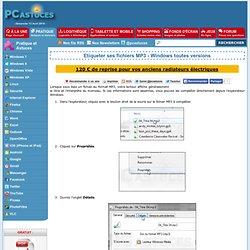 Etiqueter ses fichiers MP3 - Windows toutes versions