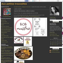 etiquette SOS (brownies, muffins et cookies). - Aux petites trouvailles
