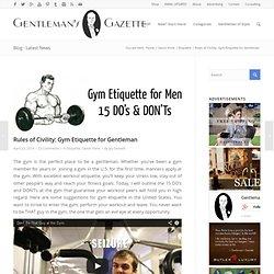 Gym Etiquette Guide