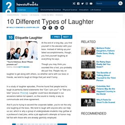 10: Etiquette Laughter - 10 Different Types of Laughter