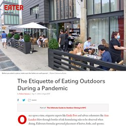The Etiquette of Eating Outdoors During a Pandemic