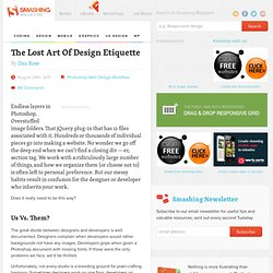 The Lost Art Of Design Etiquette - Smashing Magazine