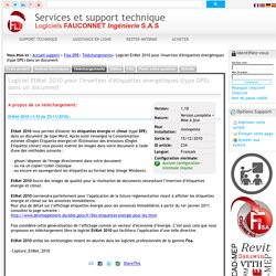 Support FISA - Logiciel EtiKet 2010 pour l'insertion d'étiquettes énergétiques (type DPE) dans un document