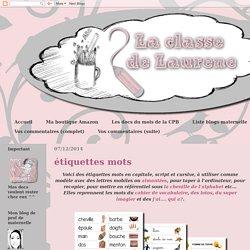 La maternelle de Laurène: étiquettes mots