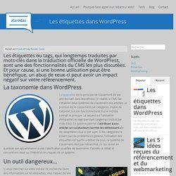 Les étiquettes dans WordPress - A la rédac