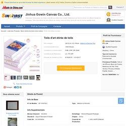 Toile d'art étirée de toile –Toile d'art étirée de toile fournis par Jinhua Gowin Canvas Co., Ltd. pour les francophonies
