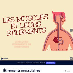 Étirements musculaires - Genially