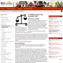 Etiska teorier och normativ etik