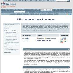 ETL, les questions à se poser