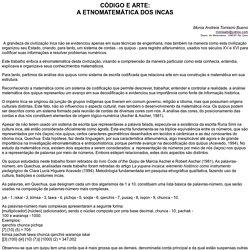 etnomatematica y quipus