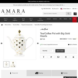 Miss Étoile Tea/Coffee Pot with Big Gold Hearts at Amara