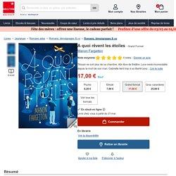 A quoi rêvent les étoiles de Manon Fargetton - Grand Format - Livre - Decitre