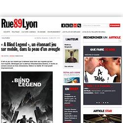 """""""A Blind Legend"""", un étonnant jeu sur mobile, dans la peau d'un aveugle"""