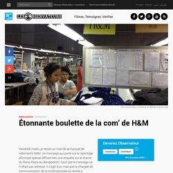 Étonnante boulette de la com' de H&M