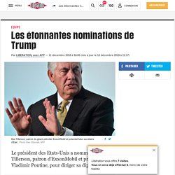 (20+) Les étonnantes nominations de Trump