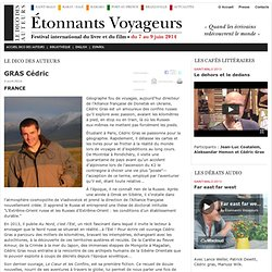 GRAS Cédric - Etonnants-Voyageurs