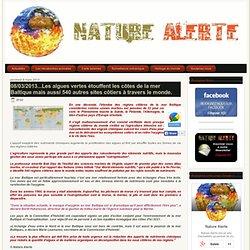 NATURE ALERTE 08/03/13 Les algues vertes étouffent les côtes de la mer Baltique mais aussi 540 autres sites côtiers à travers le