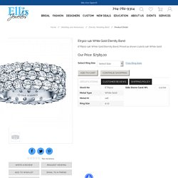 Etr902-14k White Gold Eternity Band - ETR902