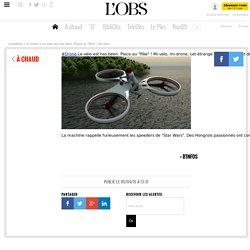 """Le vélo est has been. Place au """"flike"""" ! Mi-vélo, mi-drone, cet étrange appareil permet de se déplacer en volant à dos de drone"""