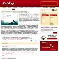 L'étrange panne du site généalogique des Mormons
