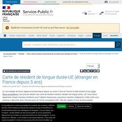 """Étranger en France: carte de """"résident de longue durée - UE"""""""