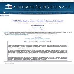 DOSSIER : Affaires étrangères : avenant à la convention avec Monaco sur la sécurité sociale
