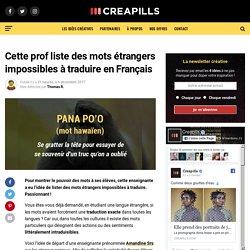 Mots étrangers impossibles à traduire en Français