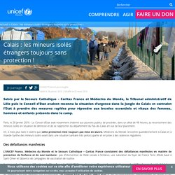 Calais : les mineurs isolés étrangers toujours sans protection !