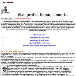 Etre prof & homo