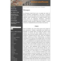Etrusques - Histoire du Monde