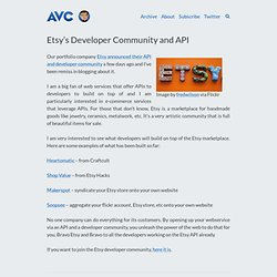 Etsy's Developer Community and API