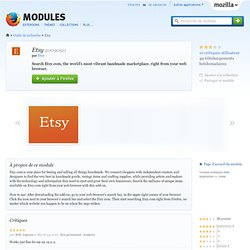 Etsy : Modules pour Firefox